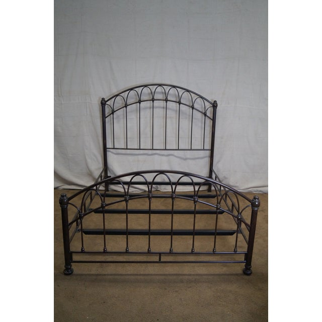 Victorian Style Iron Queen Size Bed - Image 6 of 10