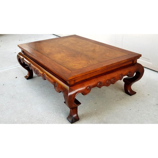 Made by Baker, this trey coffee table has the most gorgeous grain patterns on the top of the table and the fabulous...