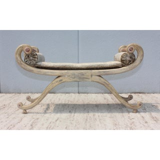 1940s French Scroll Arm Bench Preview