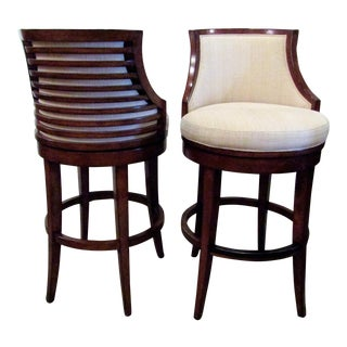 Modern Ocean Club Swivel Bar Stools- A Pair For Sale