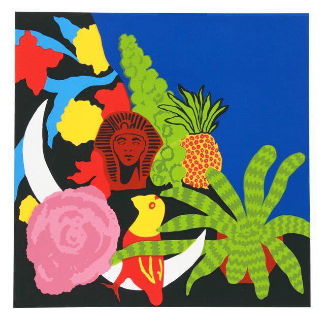 """Mid-Century Modern """"Brussell Sprouts II"""" Signed Serigraph Print by Hunt Slonem For Sale - Image 3 of 3"""