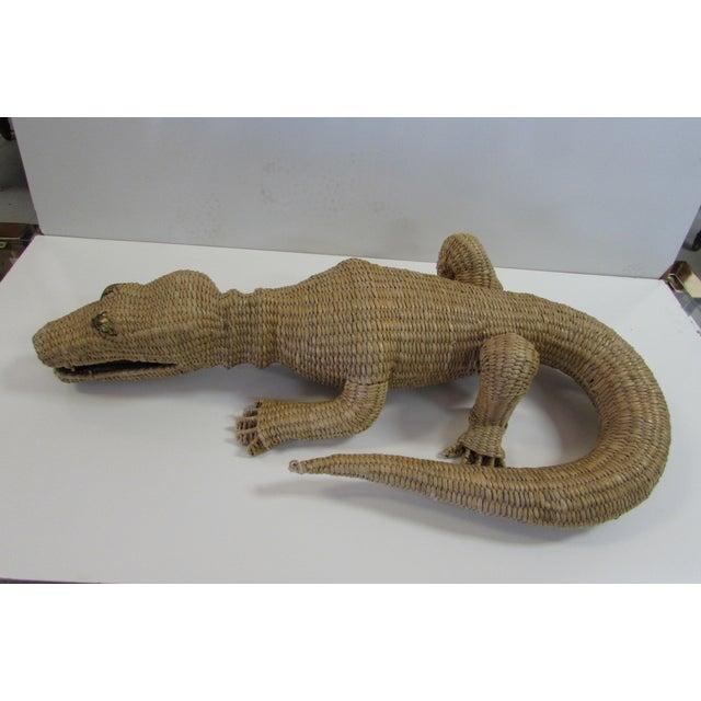 Wicker Crocodile Figure by Mario Torres - Image 2 of 5