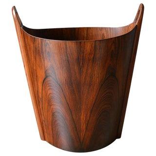1965 Scandinavian Modern Einar Barnes for p.s. Heggen Rosewood Wastebasket For Sale