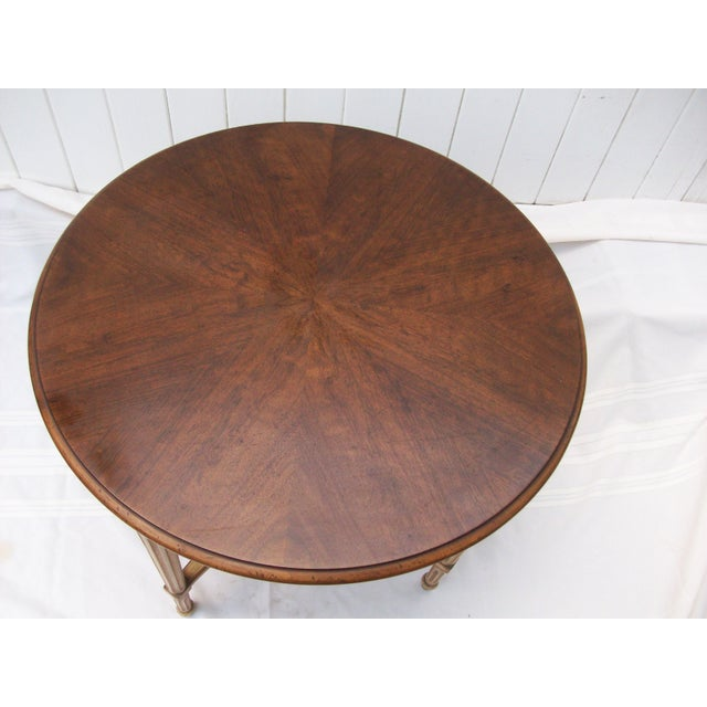 Wood John Widdicomb Round Side Table For Sale - Image 7 of 8