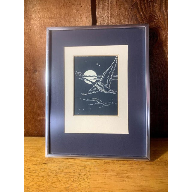 Metal Gwen Frostic Goose Block Print For Sale - Image 7 of 7
