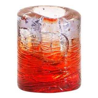 Jungle Contemporary Vase, Small Bicolor Transparent and Red resin by Jacopo Foggini For Sale