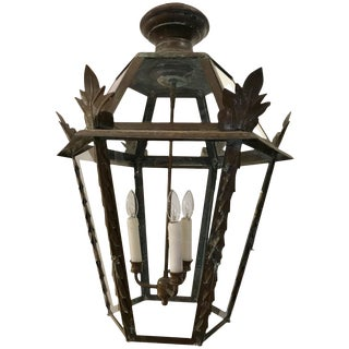 Very Special Antique French Copper Lantern For Sale