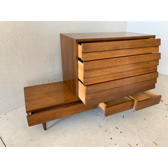 Vintage Mid-Century American of Martinsville Dania Modular Bench & Chest of Drawers For Sale In Tampa - Image 6 of 12