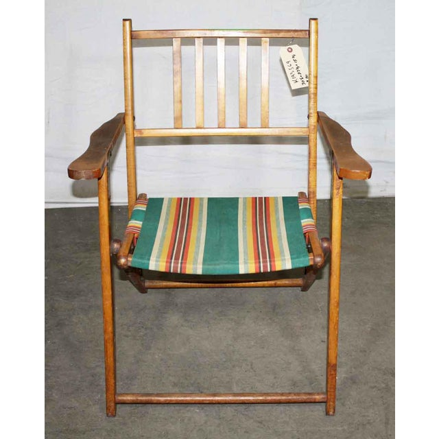 Wooden Folding Beach Chair - Image 5 of 5