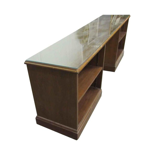 Traditional 1980s Walnut Executive Desk For Sale - Image 3 of 9