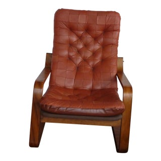 Leather Lounge Chair For Sale