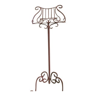 Vintage Wrought Iron Lectern Music Stand For Sale