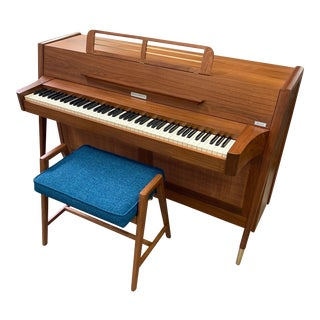 Baldwin Acrosonic Piano Bench, Custom Newly Made - You Pick the Fabric! For Sale