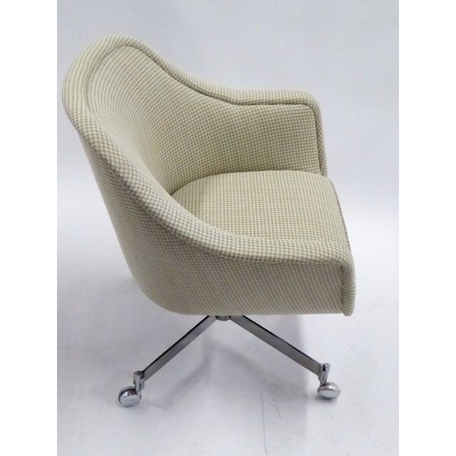 Mid-Century Modern Ward Bennett for Brickel Associates,Bumper Office Desk Armchair on Casters. For Sale - Image 3 of 12