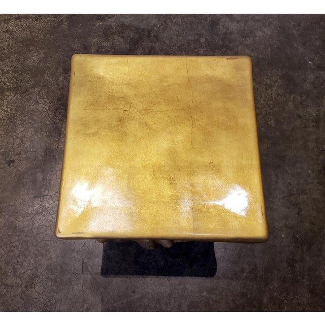 Gold Pink and Gold Hollywood Regency Draped Coffee Table For Sale - Image 8 of 9