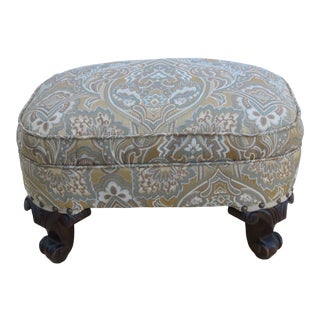 Early 1900s French Carved Small Ottoman Footstool 2353 For Sale
