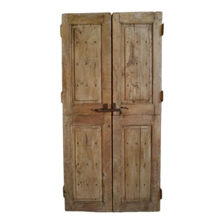 Vintage Teak Farm Doors For Sale