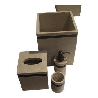 Labrazel Sandstone Bath Accessories - 4 Pieces For Sale