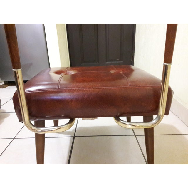 Mid-Century Coat Stand With Stool For Sale - Image 5 of 11