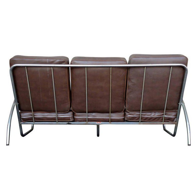 Wolfgang Hoffmann Style Chrome Tublar Sofa by Royal Metal - Image 5 of 9
