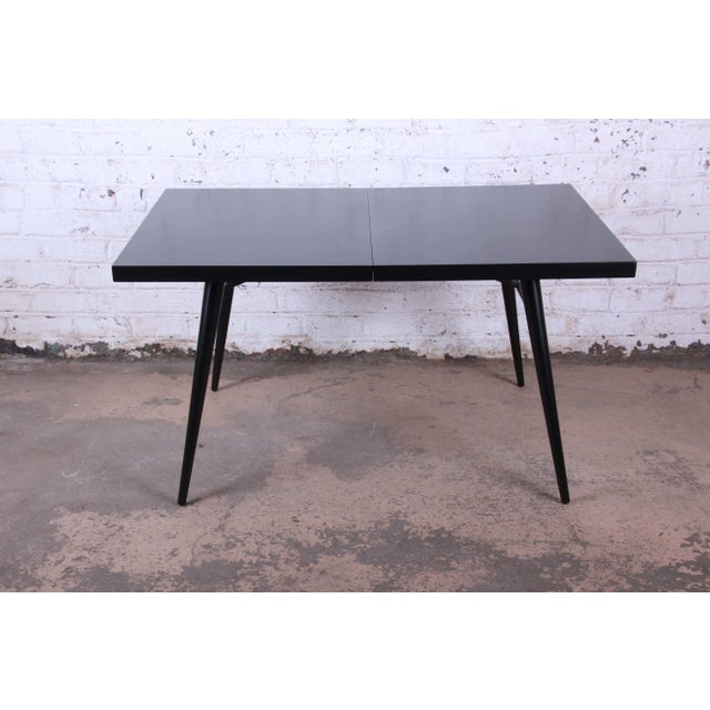 1950s Paul McCobb for Planner Group Ebonized Extension Dining Table & Chairs - Set of 6 For Sale - Image 11 of 13