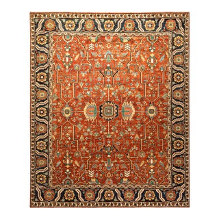 One-Of-A-Kind Oriental Serapi Hand-Knotted Area Rug, Crimson, 8' 3 X 9' 8 For Sale