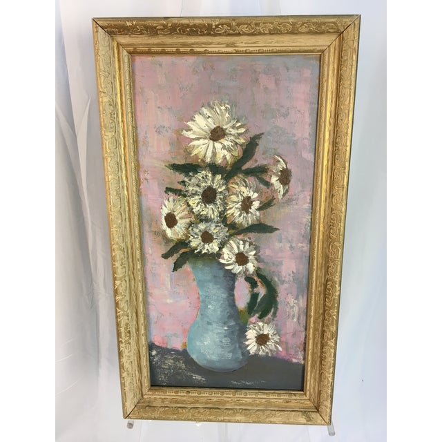 Vintage Floral Soft Pastels Oil Painting For Sale In Charleston - Image 6 of 11