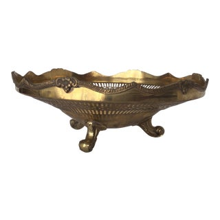 Indian Decorative Brass Bowl For Sale