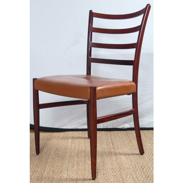 1960s Rosewood Game Table & 4 Chairs For Sale - Image 5 of 13