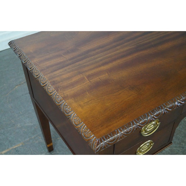 Baker Historic Charleston Collection Mahogany Chippendale Style Desk - Image 9 of 10