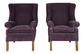 Image of Purple Wingback Chairs