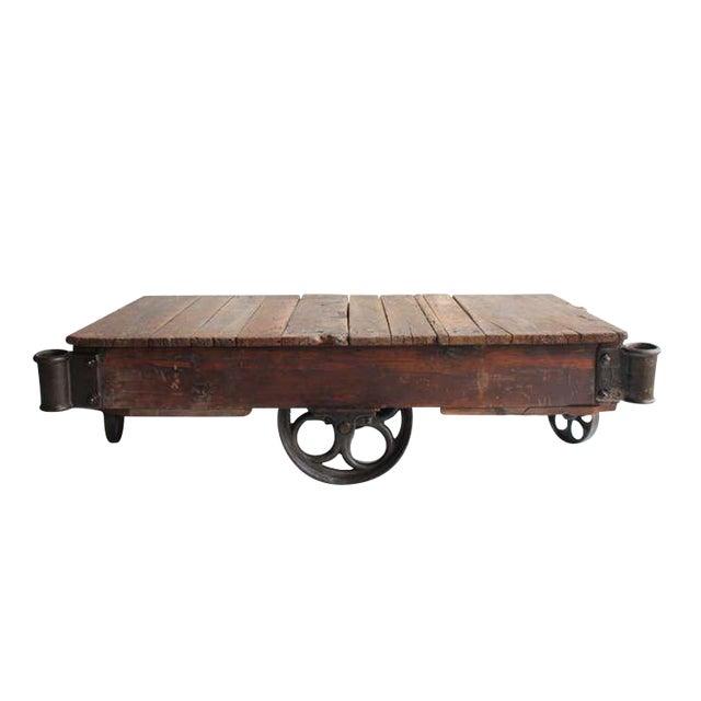 American Industrial Cart Coffee Table Chairish