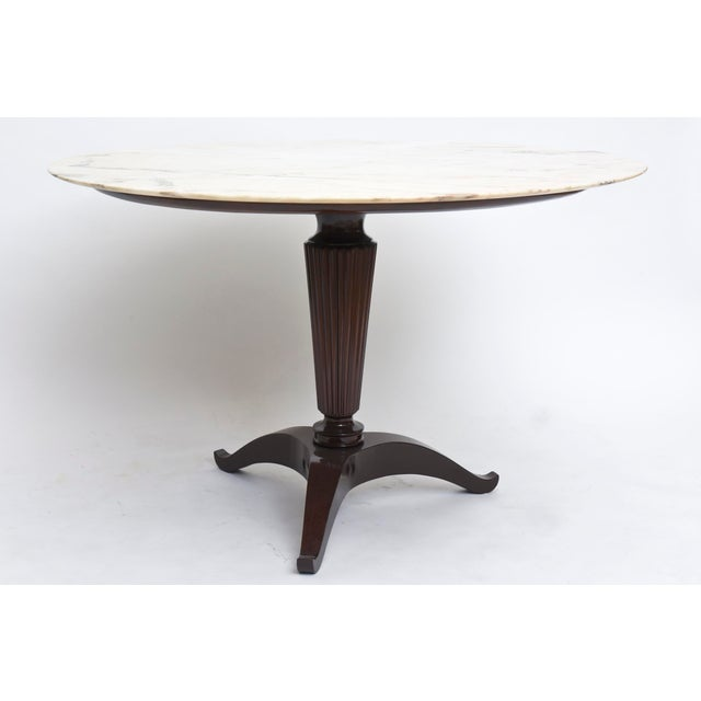 Italian Modern Onyx and Walnut Center or Dining Table by Paolo Buffa For Sale In Miami - Image 6 of 9