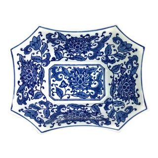 Chinois Blue & White Octagonal Bowl For Sale