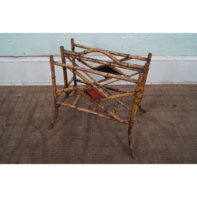 Antique Bamboo Magazine Stand - Image 2 of 8