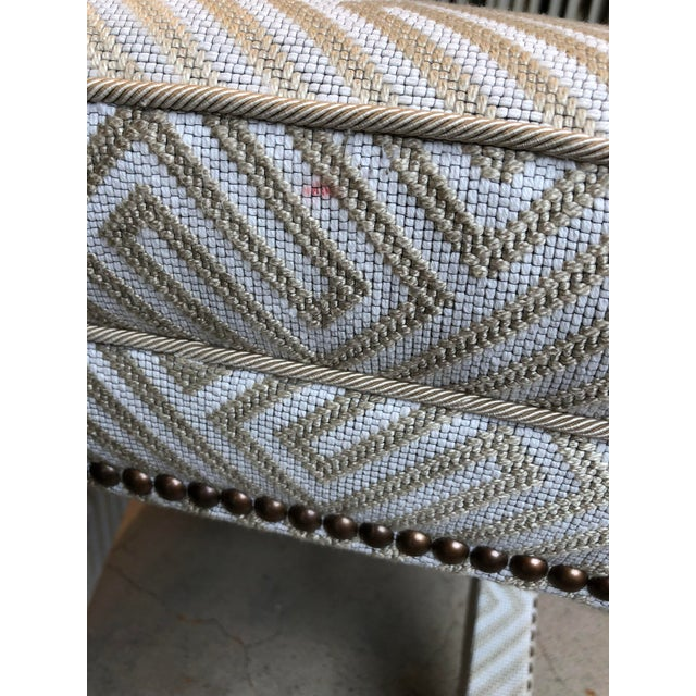 Transitional Scalamandre Upholstered X Bench For Sale - Image 10 of 12