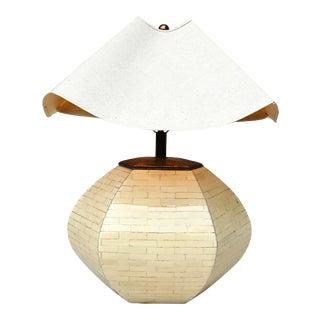 Enrique Garcel Tellellated Bone Table Lamp For Sale