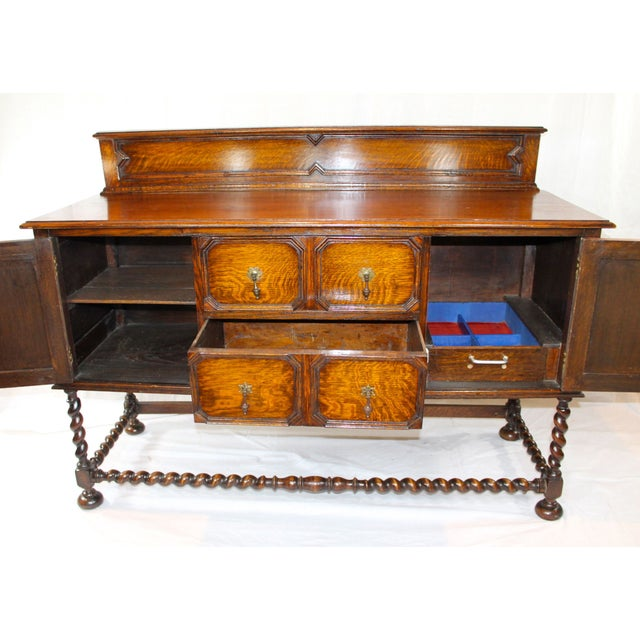 Traditional Large Antique Oak Jacobean Sideboard For Sale - Image 3 of 6