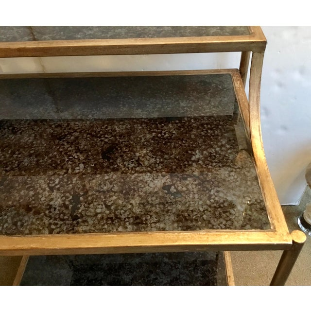 Modern Reverse Painted Glass Bar Table For Sale - Image 4 of 7