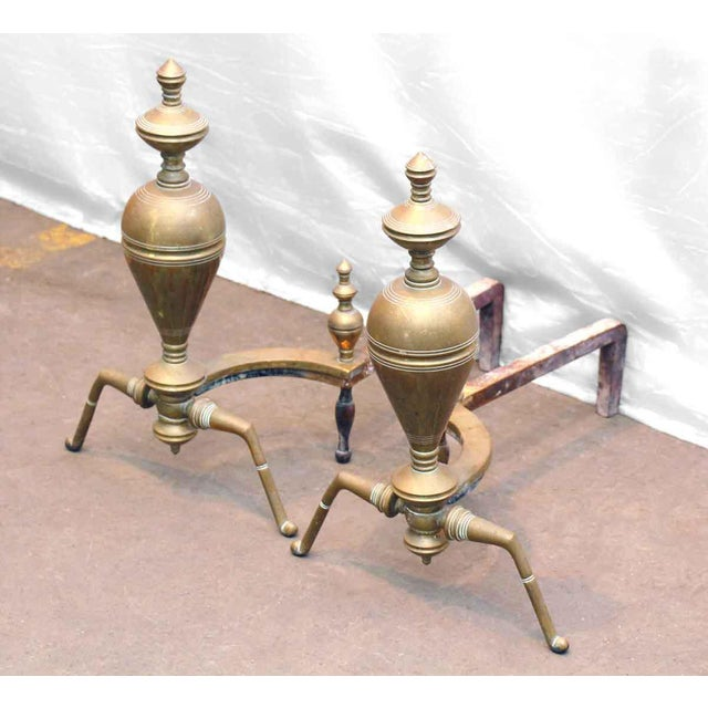 Brass & Iron Andirons - A Pair - Image 6 of 7