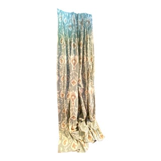 Custom Ikat Curtains - Set of 6 For Sale