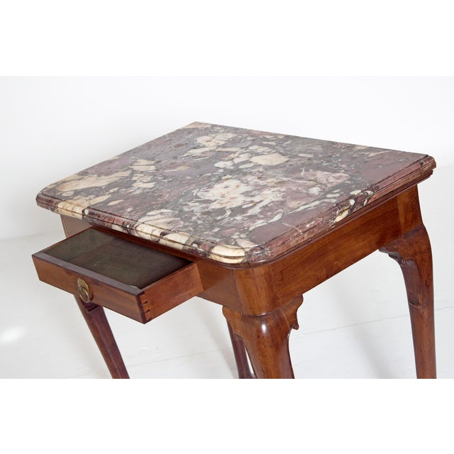 Early 18th Century Queen Anne Mahogany Side Table For Sale - Image 9 of 13
