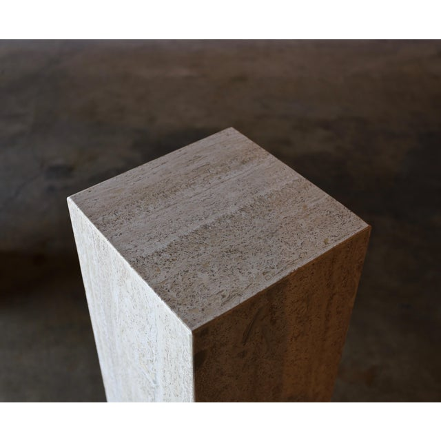 Travertine Pedestals Circa 1980 - a Pair For Sale - Image 4 of 6