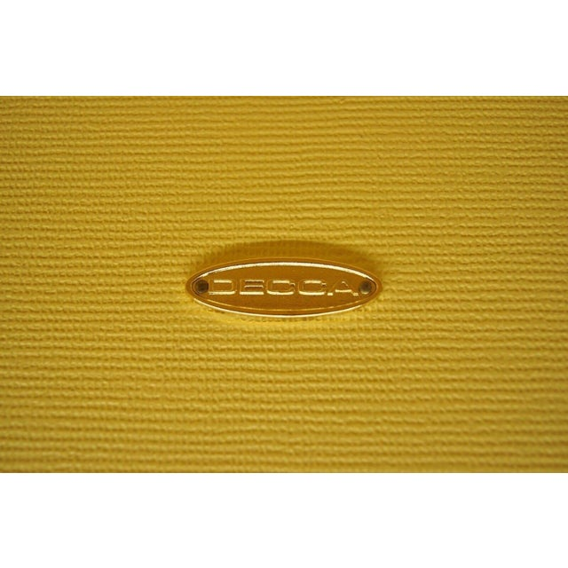 Modern Decca Yellow Grasscloth Raffia Wrapped End Tables - a Pair For Sale - Image 9 of 10