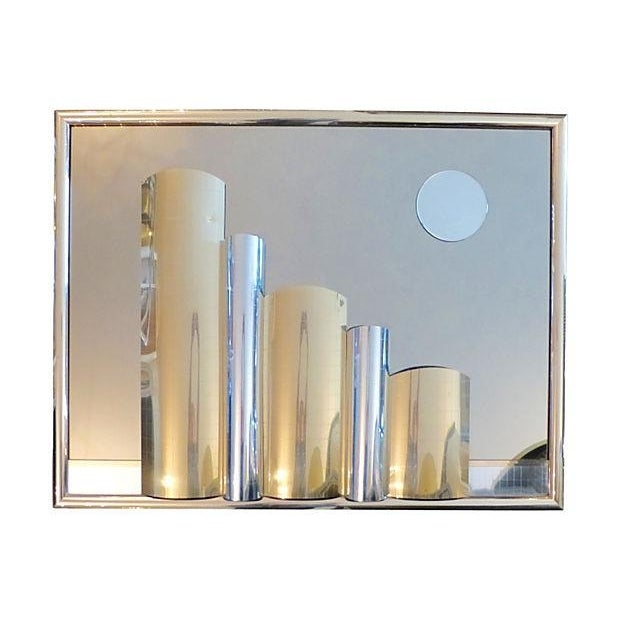 Cityscape Mirror Brass Plate - Image 1 of 7