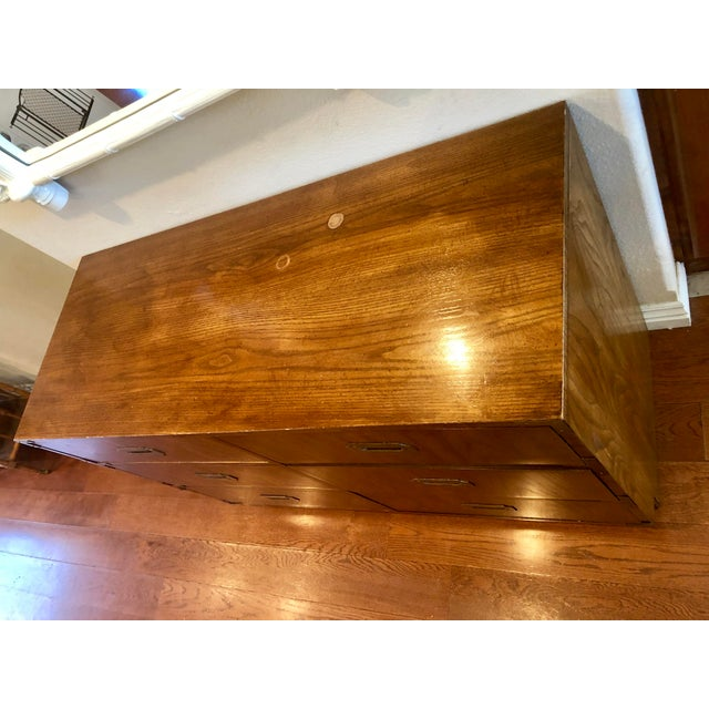 Dixie Dixie Campaigner Six Drawer Dresser For Sale - Image 4 of 9