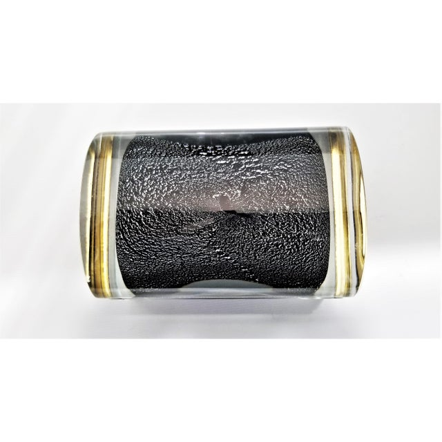 Murano Glass Box by Alessandro Mandruzzato - Silver and Black Heavy Glass - Italy Italian Mid Century Modern Palm Beach Boho Chic For Sale - Image 10 of 12