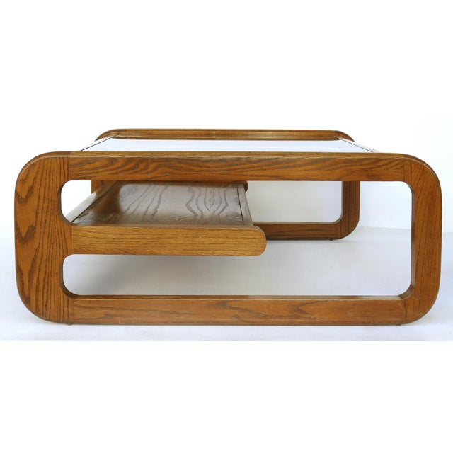 Mid-Century Modern Lou Hodges Mid-Century Modern California Coffee Table With Inset Glass For Sale - Image 3 of 8