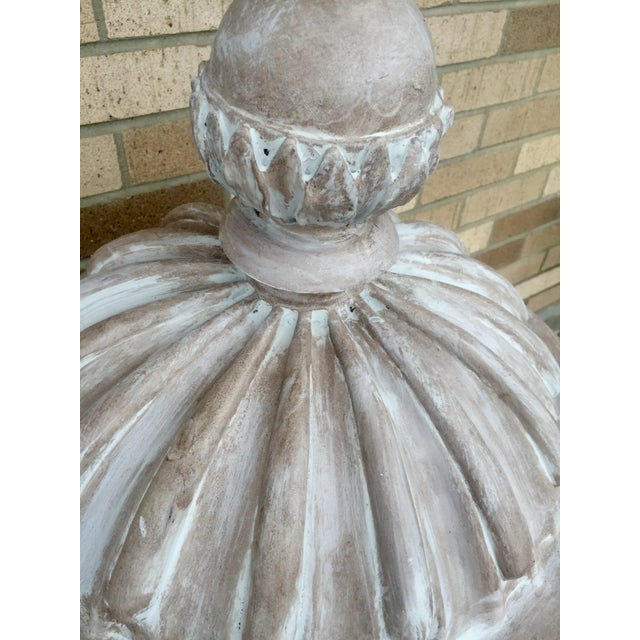 Large Italian Gray Fiberglass Storage Urn - Image 4 of 5