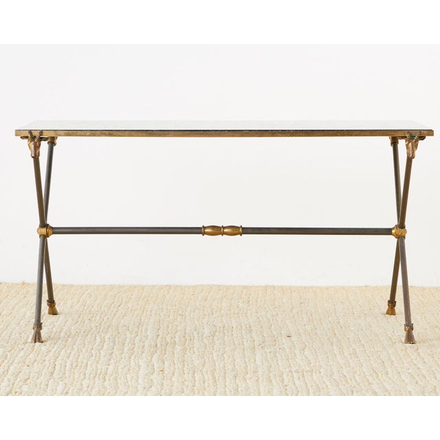 Mid 20th Century Maison Ramsay Marble Rams Head Cocktail Table For Sale - Image 5 of 13